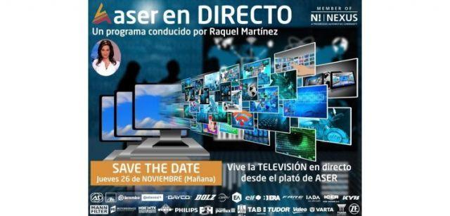 """Televisión y espacios virtuales en """"ASER en Directo"""""""